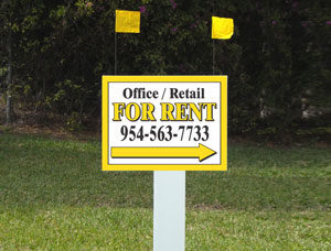 18x24 For Rent Signs