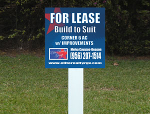 2x2 Cheap Commercial Real Estate Signs