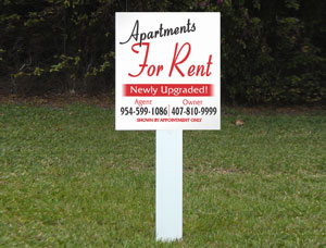 2x2 cheap Real Estate For Rent Signs