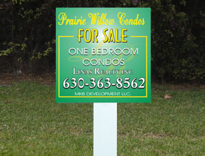 2x2 cheap Real Estate Outside Signs