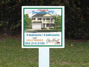 2x2 cheap Property Real Estate Sign