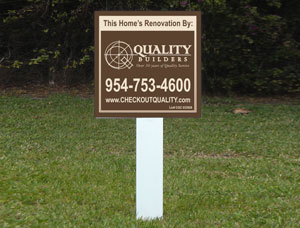 2x2 cheap Property Site Signs