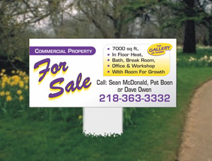 2x4 Commercial Property Signs