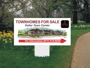 2x4 Commercial Property Sign