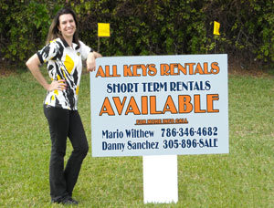 3x4 For Rent Real Estate Signs