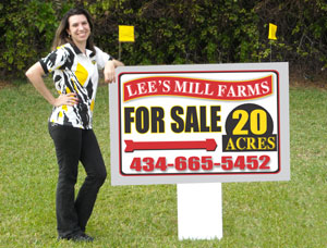 3x4 For Sale Auction Real Estate Signs