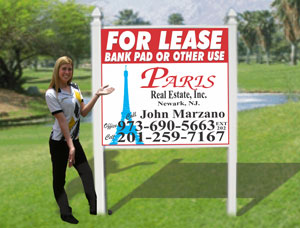 4x4 Commercial Real Estate Signs