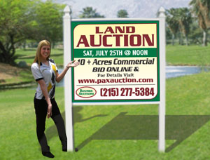 4x4 Commercial Auction sign