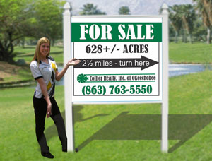 4x4 Commercial For Sale Real Estate Signs