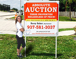 4x4 auction signs