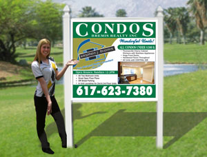 4x4 Real Estate Signs