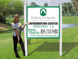 4x4 Commercial Site Signs