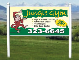 4x8 Commercial Outdoor Business Site Signs