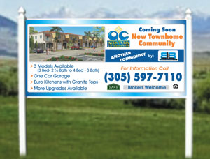 4x8 Commercial Real Estate Signs