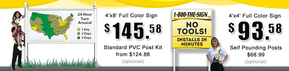 4x8 Commercial signs $139.95