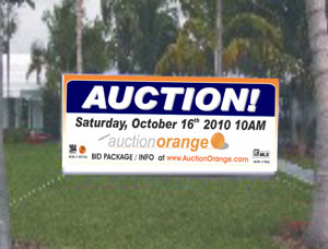 Custom Size Commercial Auction banners