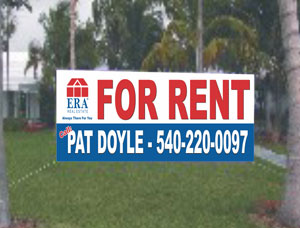 Custom Size Commercial For rent Banners