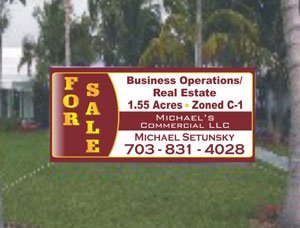 Custom Size Commercial For Sale Real Estate Banners