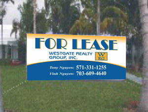 Custom Size Commercial Property Banners