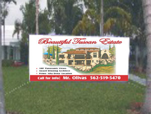 Custom Size Commercial Site Sign Banners