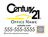 Century 21 Sign with QR code