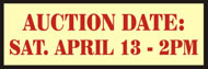 Auction Date Rider Sign